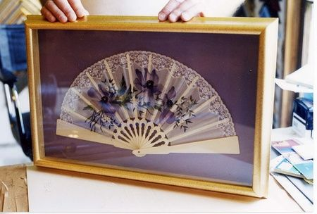 Fan in a frame
