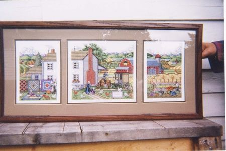 Farmland art framed